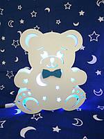 """Детский ночник """"Медвежонок Банни"""", свет синий"""