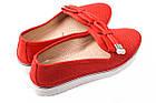 Туфли женские Mario Muzi натуральная кожа, цвет красный (платформа, комфорт, лето, Турция), фото 2