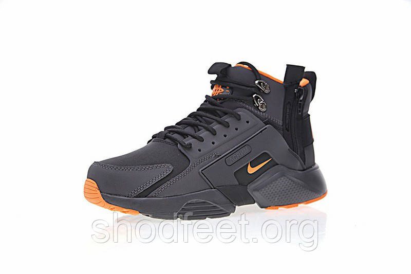 Мужские кроссовки Nike Air Huarache x ACRONYM City Mid Lea Black Orange