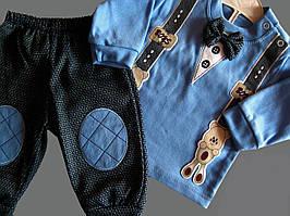 Нарядный костюм для мальчика с бабочкой и подтяжками Турция р. 1, 3  МАЛОМЕРИТ!!!