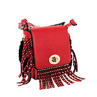 Красная сумка кроссбоди с бахромой, сумка крос-боди