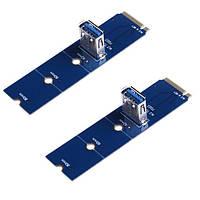 Райзер-адаптер Dynamode M.2-USB3.0-PCI-E , фото 1