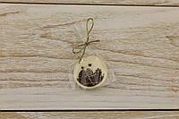 Шоколадный пасхальный декор Т-круг. Размер:диаметр 35мм,h=2мм,вес 3,35гр, фото 1