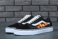 Мужские кеды Vans Old Skool Art Fire Black White
