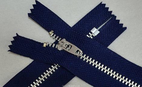 Молния джинсовая (синяя/никель) арт.14014, цена за упаковку (50шт.)