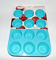 Форма силиконовая для 12-ти кексов Con Brio, фото 1