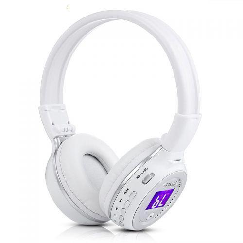 Наушники беспроводные bluetooth microSD FM MP3 Zealot B570 White