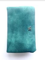 Женский бирюзовый, зеленый мягкий кошелек