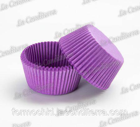 Бумажные формы для кексов пурпурные 7а (Ø50, бортик – 30 мм), 2000 шт.