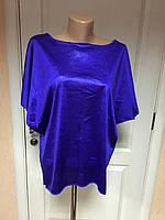 Блузка-туника женская нарядная атласная