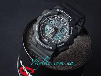 Спортивные часы Casio G-Shock GA-100 черные с белым, фото 1