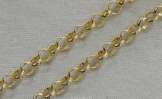 Декоративная металлическая цепь (цвет золото) арт.15154, цена за бобину (30 метров).