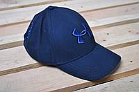 Кепка Under Armour синяя с синим вышитым логотипом