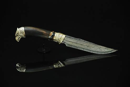 """Нож ручной работы """"Сокол-М 2"""", мозаичный дамасск (наличие уточняйте), фото 2"""