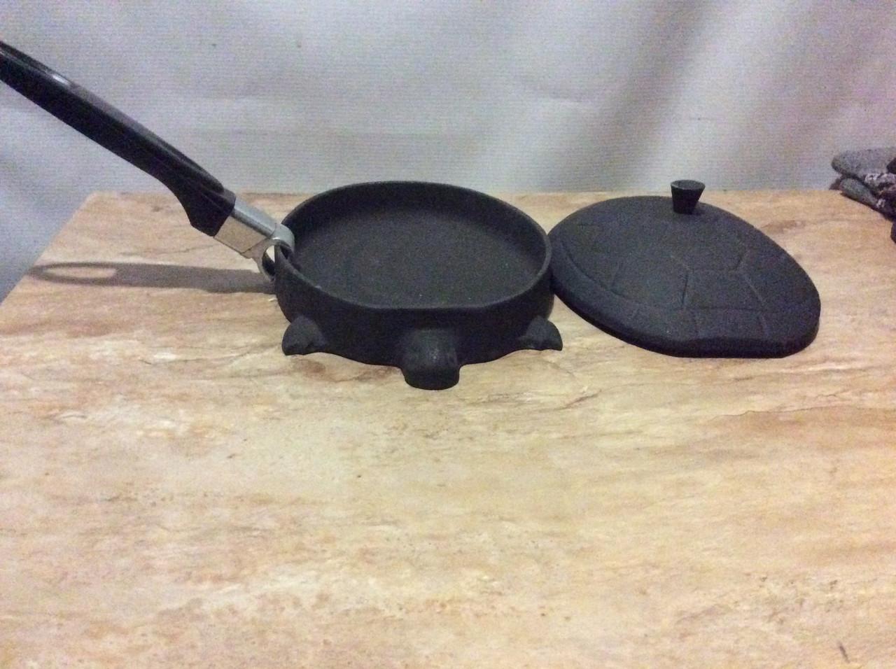 Порционная сковородка с крышкой в форме черепахи