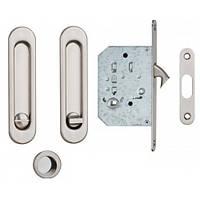 Ручки SIBA для раздвижных дверей с замком WC сатен