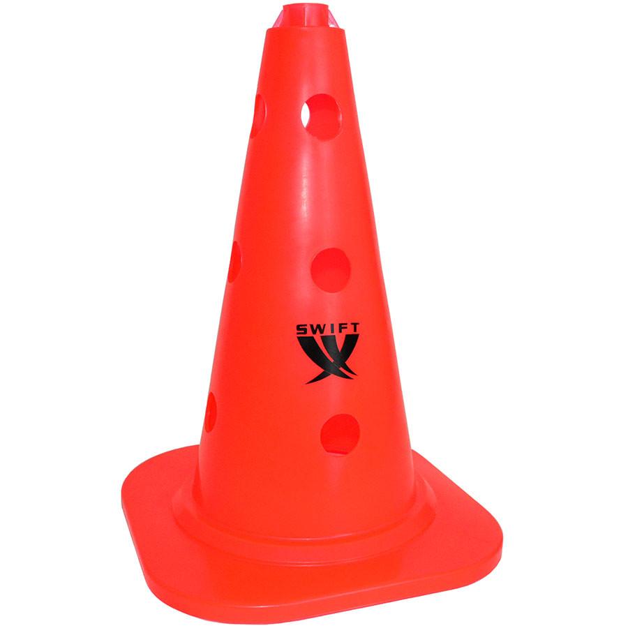 Конус тренировочный SWIFT Training cone with holes, 25 mm pole, 34 см (оранжевый)