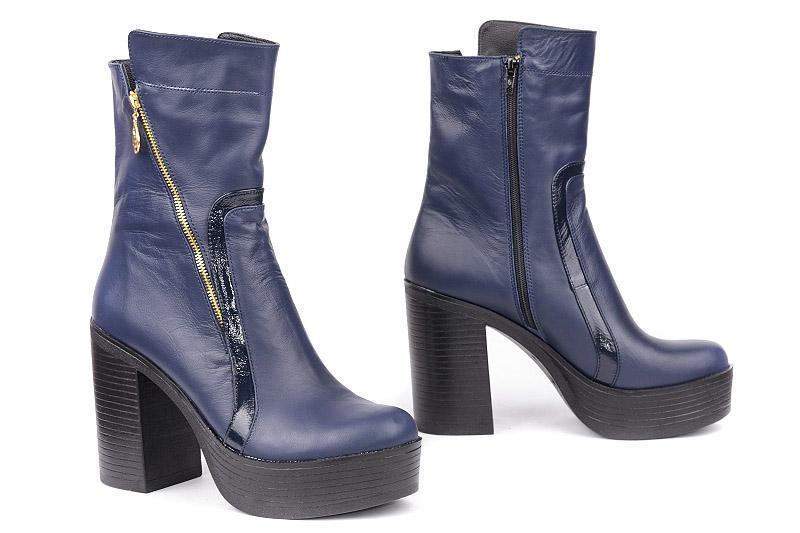 Ботинки на каблуке, из натуральной кожи, замша, лака, на молнии. Пять цветов! Размеры 36-41 модель S2753