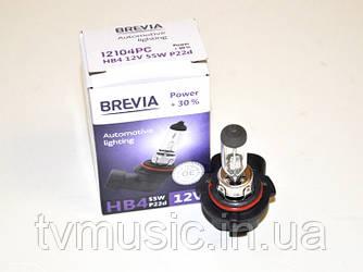 Лампа галогенная Brevia HB4 Power +30% (12104PC)