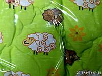 Одеяло Детское из овечий шерсти салатовое