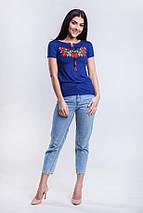 Трикотажная футболка вышиванка Багровые маки, фото 2
