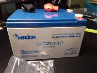 Аккумулятор тяговый 12V 12Ah AGM MERLION 6-DZM-12 F19 (под винтик)