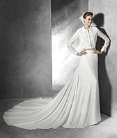Свадебное платье с вортником