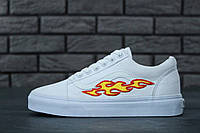 Женские кеды Vans Old Skool Art Fire White