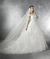 Стильное свадебное с гипюром