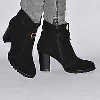 Ботинки на каблуке, из натуральной кожи, замша, лака, на молнии. Шесть цветов! Размеры 36-41 модель S2808, фото 1