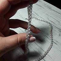 Цепь серебряная, розочка, 21,2 грамм, 500 мм