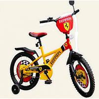 "Велосипед 2-х колес 12"" 181227 со звонком, зеркалом,без ручного тормоза"