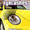 "Реснички на фары автомобиля - ""Eyelashes"" - 2 шт"