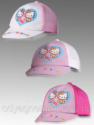 Кепка для девочек Hello Kitty оптом, 48-50 см.