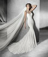 Платье с гипюром свадебное