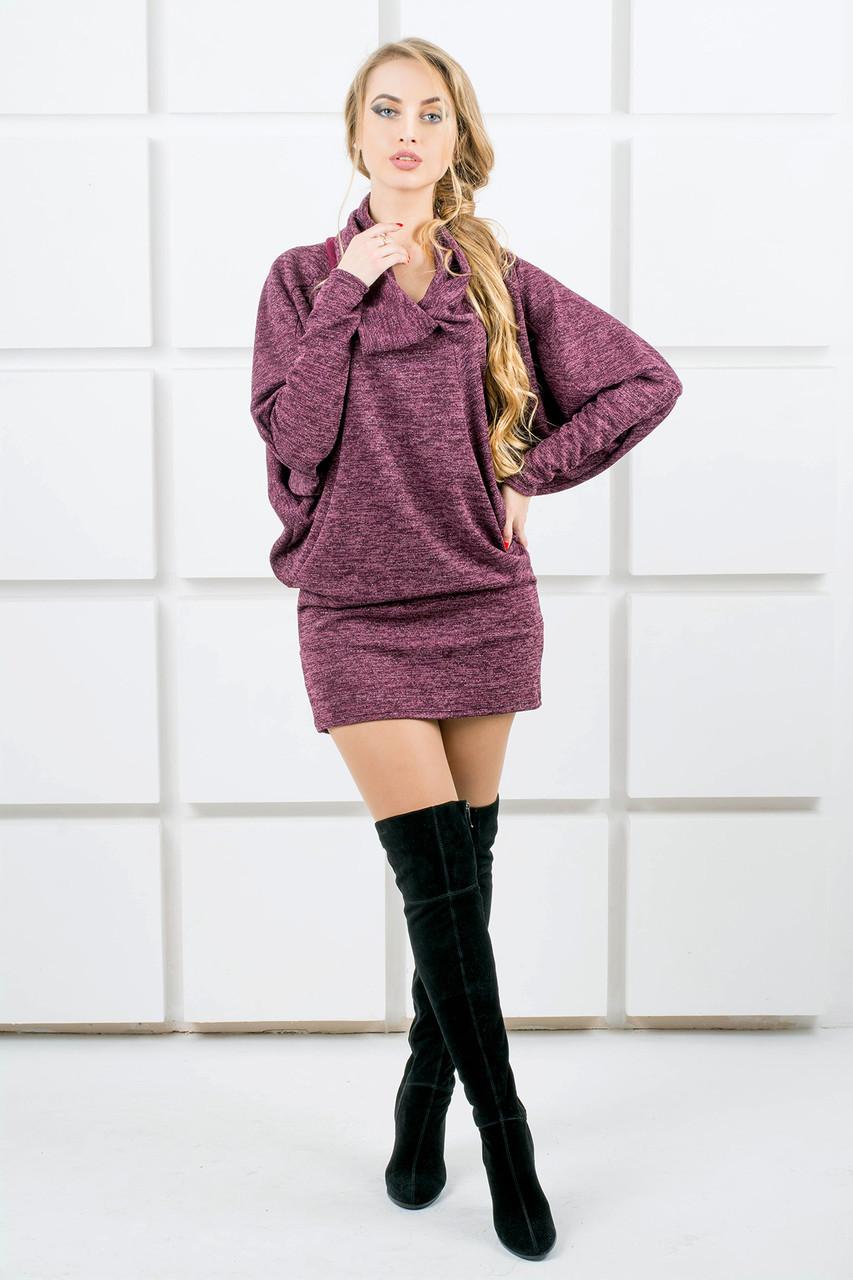 ea4dbc26f0e Женское платье-туника летучая мышь Шерли   размер 44-54   цвет бордо ...