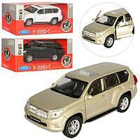 Welly.Машинка металл 43630L-CW Toyota Land Cruiser Prado, рез. колеса, двери открыв, 15-7-7