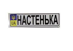 """Номер на детскую коляску """"Настенька"""""""