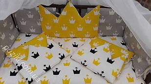 Комплект детского постельного белья 7 в 1 Корона