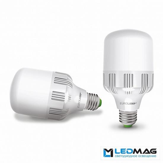 Светодиодная мощная LED лампа EUROLAMP 40Вт Е40 Холодный белый 6500К промышленная