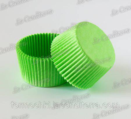 Формы для кексов зеленые 5 (Ø40, бортик – 21 мм), 2000 шт.