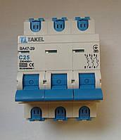 Автоматический выключатель (автомат) TAKEL 3 полюса тип С