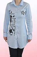 Рубашка-туника для девочки-подростка (1403/9)