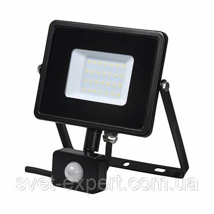 Прожектор світлодіодний FMI 10 S LED 30Вт 6500K IP44 з датчиком руху, фото 2