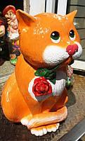 Статуэтка Кот с розой