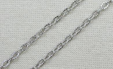Декоративная металлическая цепь (цвет никель) арт.15163, цена за бобину (50 метров).