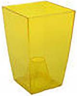 Кашпо Фінезія 125x125 жовтий прозорий, пластик