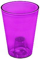 Кашпо Лілія 128 фіолетовий прозорий, пластик