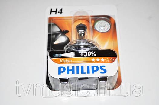 Галогенная лампа Philips Vision H4 12V 60/55W (12342PRB1)
