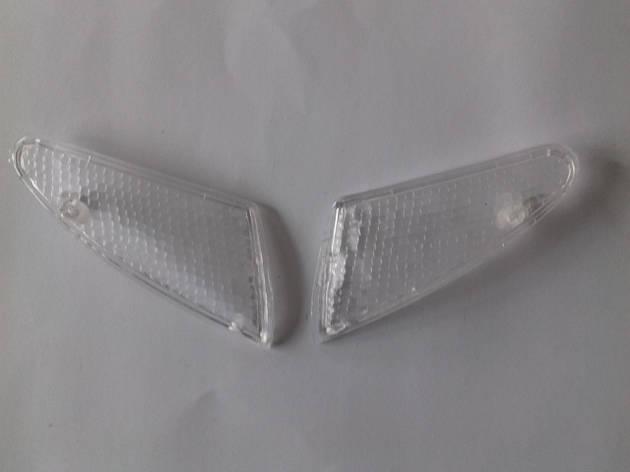 Стекла поворотов передние (пара) SUZUKI LETS II білі, фото 2